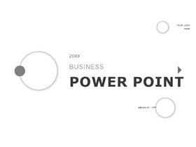 极简灰色圆圈背景商务PPT模板