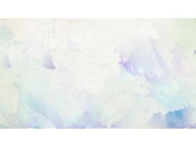 六张模糊水彩PPT背景图片