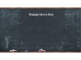8张黑板PPT背景图片