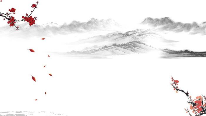 三张古典水墨山水梅花彩票联盟信誉平台图片
