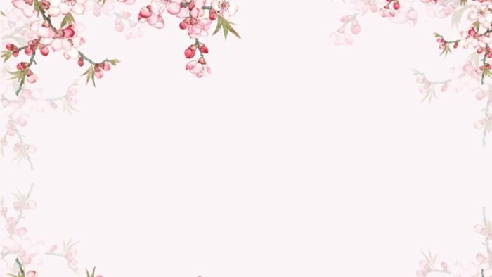 唯美桃花爱情幻灯片背景图片