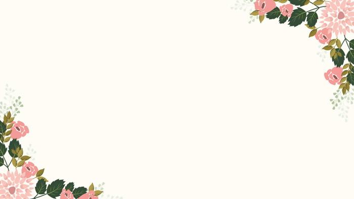六��卡通花卉�D案PPT背景�D片