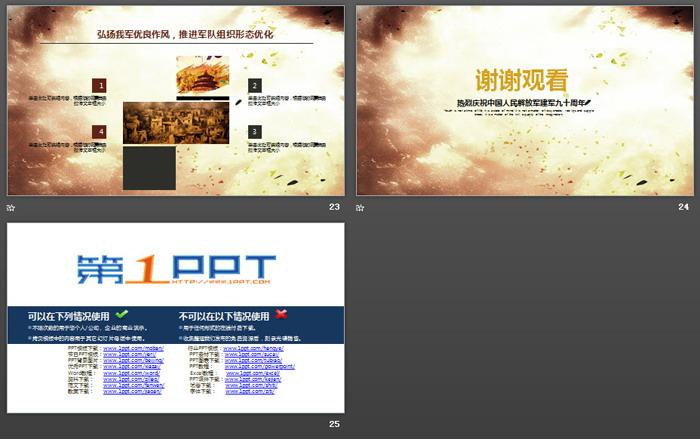 建军节来历介绍PPT模板