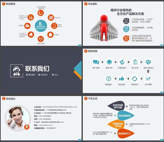 彩色团队主题的公司介绍企业宣传PPT模板