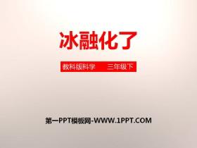 《冰融化了》温度和水的变化PPT下载