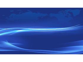 抽象蓝色曲线商务PPT背景图片