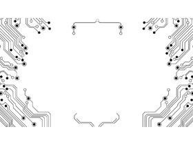 八��抽象�子�路PPT背景�D片