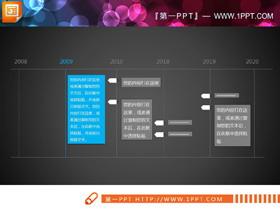 简洁细线风格的PPT时间轴素材