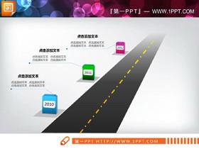 马路由远及近PPT图表