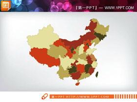 35张全国省份地图PPT图表