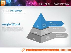蓝灰搭配商务风层级关系PPT图表