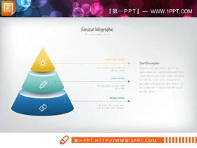两张彩色金字塔层级关系幻灯片图表