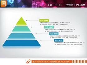三张简洁扁平化金字塔层级关系PPT图表