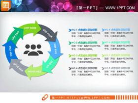两张8箭头循环关系PPT图表