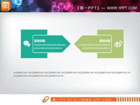 绿色冲突关系PPT图表