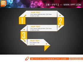 白色创意PPT流程图