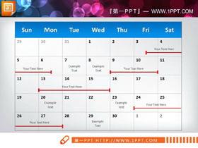 两张周工作安排PPT甘特图