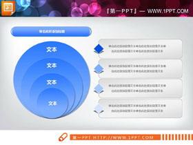 蓝色四层包含关系PPT图表