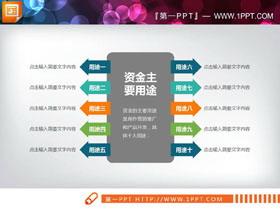十个因素的扩散关系PPT图表