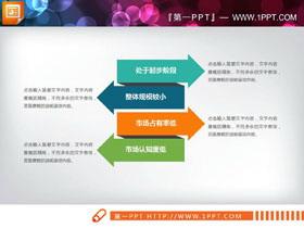 四个彩色箭头纵向排列PPT图表