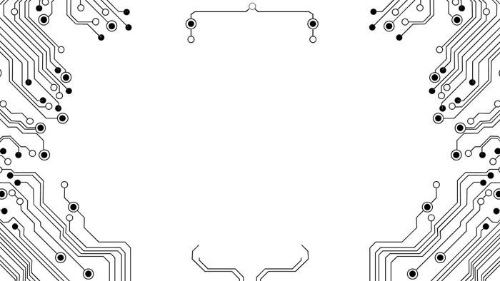 八张抽象电子线路PPT背景图片