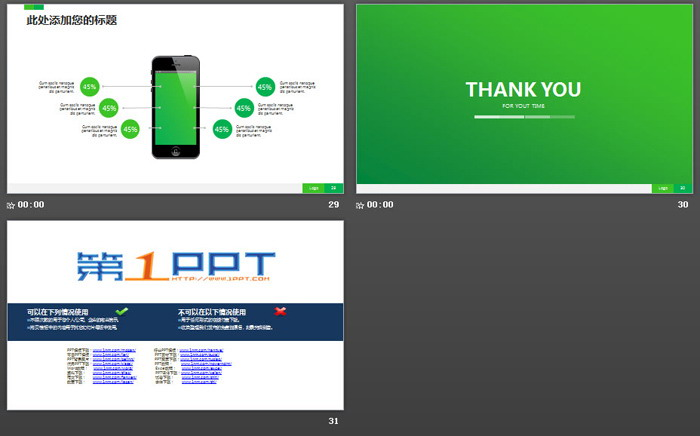 绿色网络安全主题PPT模板