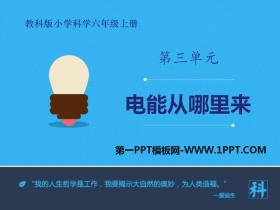 《电能从哪里来》能量PPT教学课件