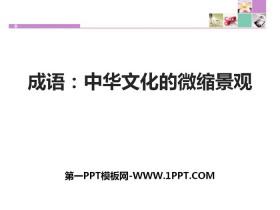 《成语:中华文化的微缩景观》PPT