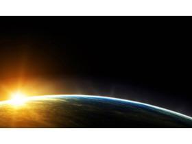 三��星空星球科技PPT背景�D
