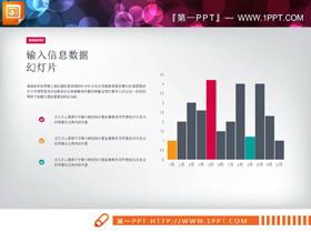三张彩色实用PPT柱状图