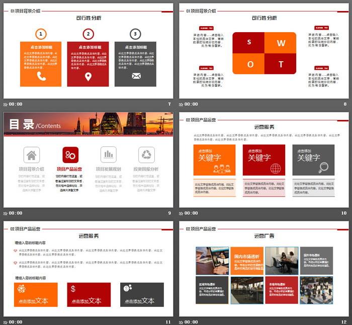 商业建筑背景的商业计划书PPT模板