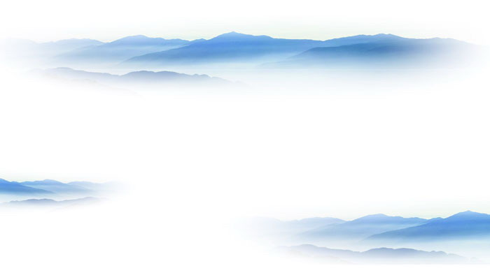 两张淡雅简洁群山云海PPT背景图片
