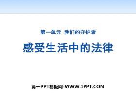 《感受生活中的法律》我们的守护者PPT下载