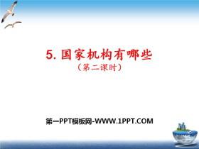 《国家机构有哪些》我们的国家机构PPT课件