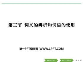 《词义的辨析和词语的使用》词语积累与词语解释PPT
