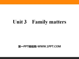 《Family matters》PPT