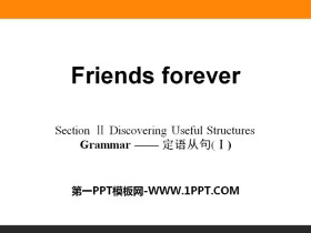 《Friends forever》Section ⅡPPT