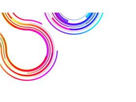 20��彩色抽�象曲�PPT背景�D