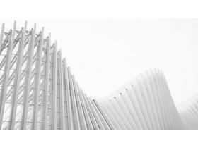 三张淡雅灰色时尚建筑PPT背景图
