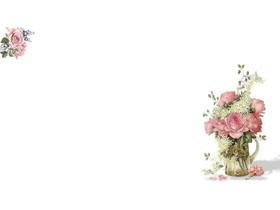 清新花卉PPT背景�D片