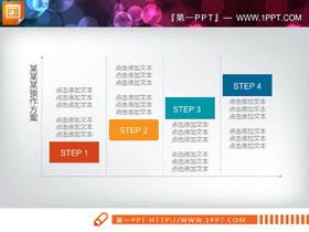 彩色扁平化��用PPT�f�M�P系�D表