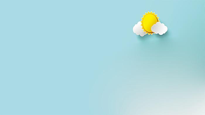 两张卡通彩虹太阳PPT背景图