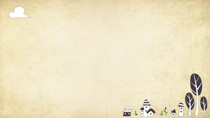 5张插画风格的卡通PPT背景图片