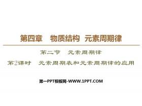 《元素周期表和元素周期律的应用》元素周期律PPT