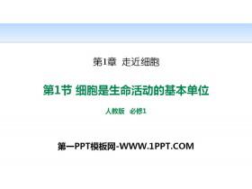 《细胞是生命活动的基本单位》走近细胞PPT下载