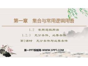 《充分条件、必要条件》集合与常用逻辑用语PPT(第1课时充分条件与必要条件)