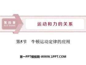 《牛顿运动定律的应用》运动和力的关系PPT课件