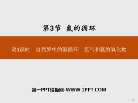 《氮的循�h》物�|的性�|�c�D化PPT(第1�n�r自然界中的氮循�h氮�夂偷�的氧化物)