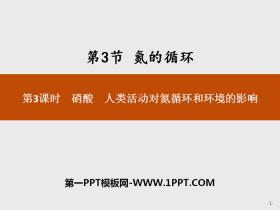《氮的循�h》物�|的性�|�c�D化PPT(第3�n�r硝酸人�活��Φ�循�h和�h境的影�)