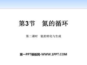 《氮的循�h》物�|的性�|�c�D化PPT(第二�n�r氨的�D化�c生成)